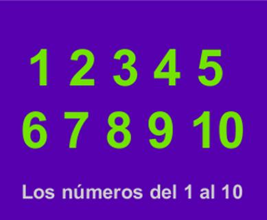 Aprender los números
