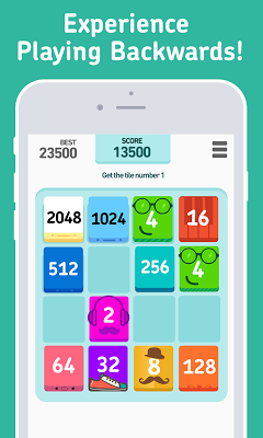 2048 Backwards - screenshot