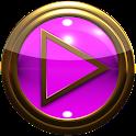 gold pink poweramp skin icon