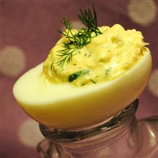 Shrimp and Dill Deviled Eggs