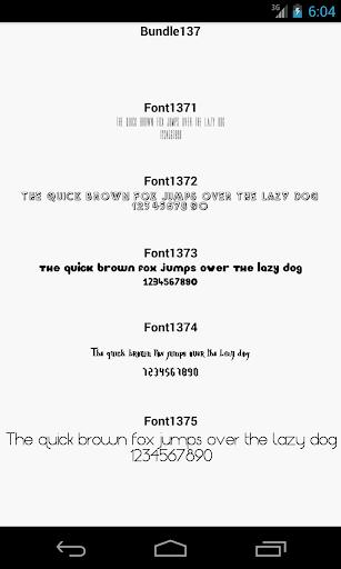 Fonts for FlipFont 137