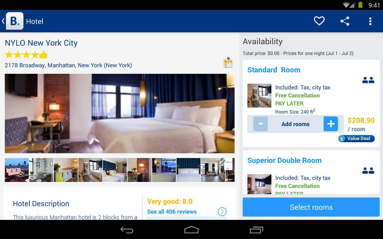 Hotel reservations android apps on google play for Tablet hotel booking