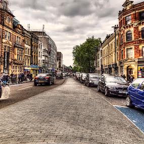Whitechapel High Street by Laura Prieto - City,  Street & Park  Street Scenes ( east end, e1, london, whitechapel high street, spitalfields,  )