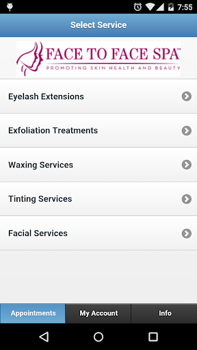 Face to Face Spa App