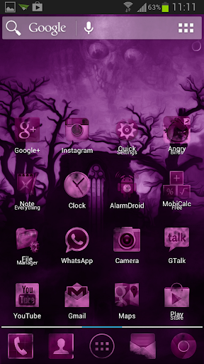 Dark Pink Fog Mystery Theme