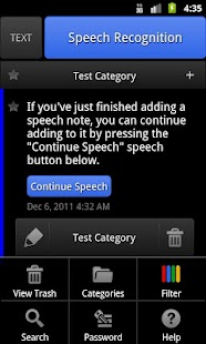 ListNote Speech/Text Notepad - screenshot thumbnail