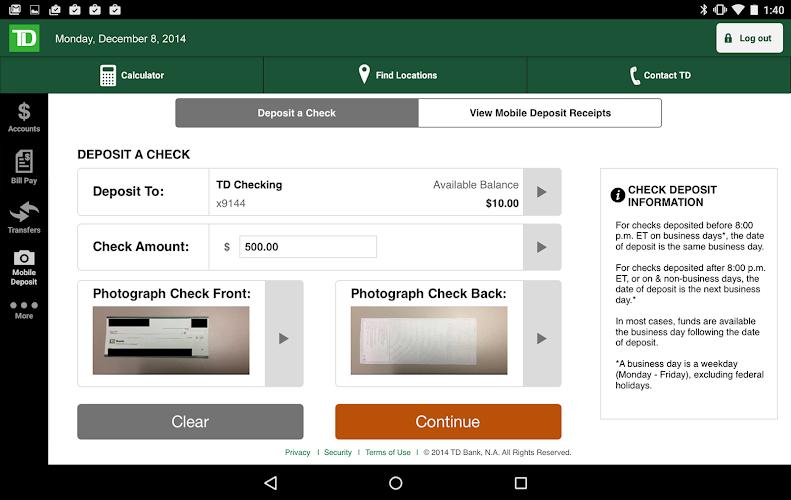 Td Bank App Check Deposit