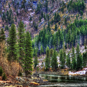 Just a little road trip up Hwy 2 trying to get rid of cabin fever, I am so ready for a warm spring and some sun more than 1 day a week. by Debbie Sodeman-Roelle - Landscapes Waterscapes ( HDR, Landscapes,  )