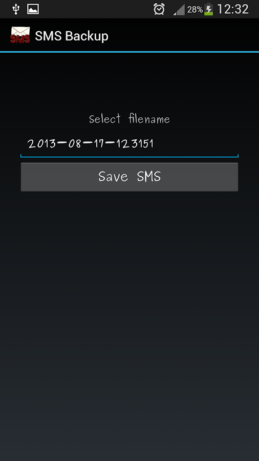 SMS Backup- screenshot