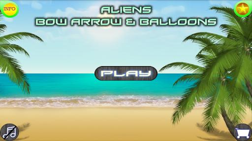 Aliens Bow Arrow Balloons