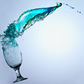 Blue by Yan Kebak - Artistic Objects Still Life ( #indonesia  #still life #macro #water splash )