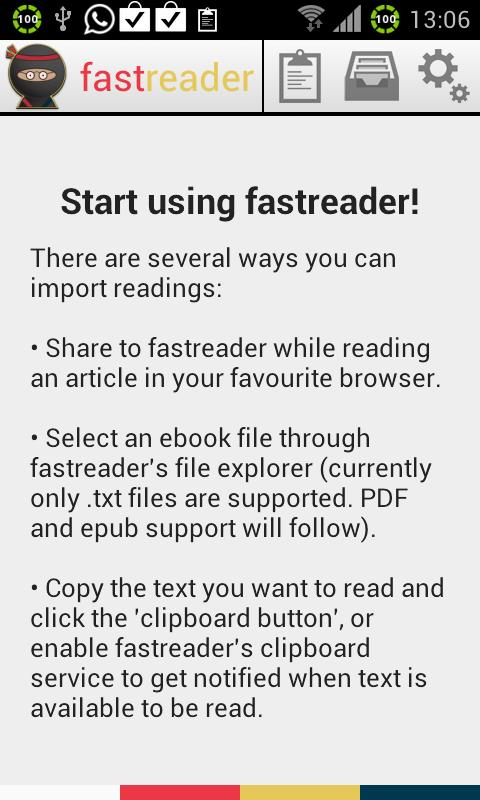 fast reader - screenshot