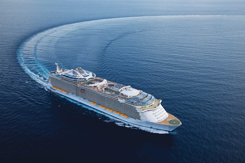 Oasis of the Seas sails from its home port of Fort Lauderdale to the Caribbean.