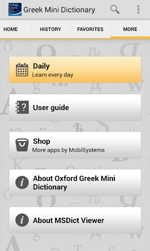Oxford Greek Mini Dictionary T