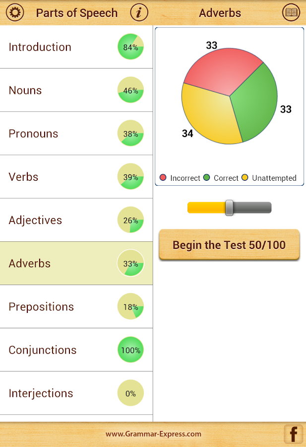 Grammar : Parts of Speech- screenshot