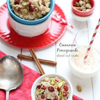 Cinnamon Pomegranate Steel Cut Oats