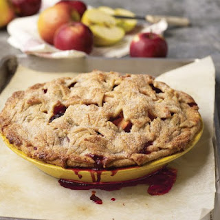 "Apple-Blackberry Pie with ""Fall Leaves"" Pate Brisee."