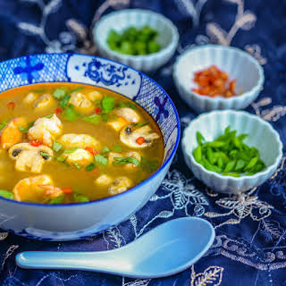Tom Yum Goong (Hot and Sour Seafood Soup).