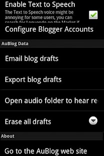 AuBlog Blogger Client- screenshot thumbnail