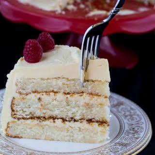 White Cake with Jack Daniels Buttercream.