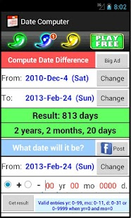 Date Computer - screenshot thumbnail