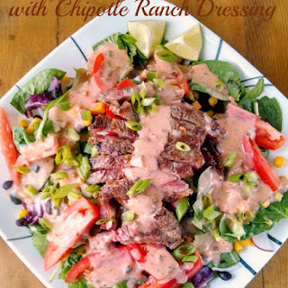 Tex-Mex Steak Salad with Chipotle Ranch Dressing.