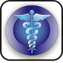 Medical Symbol doo-dad blue icon