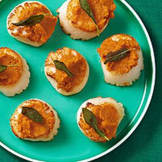 Seared Scallops with Pumpkin Puree