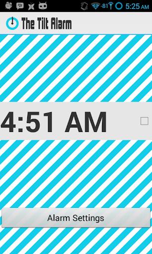 The Tilt Alarm Clock