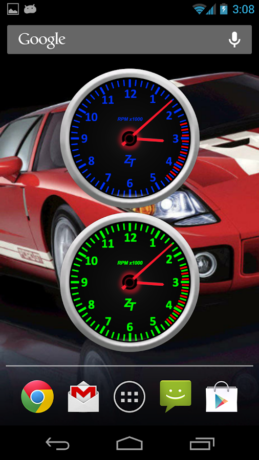 Tachometer Clock Combo Set - screenshot