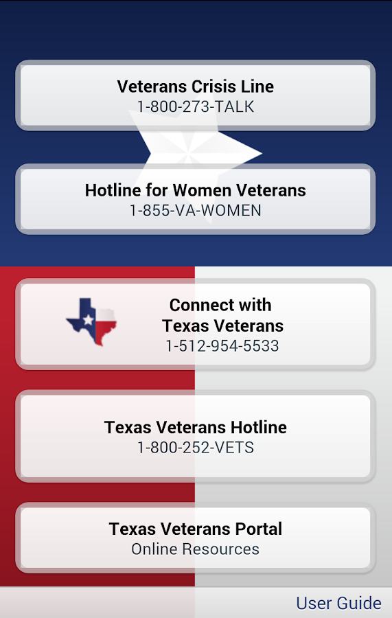 Texas Veterans App- screenshot