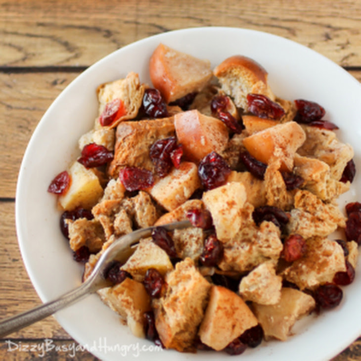 Slow Cooker Cranberry Apple French Toast Recipe