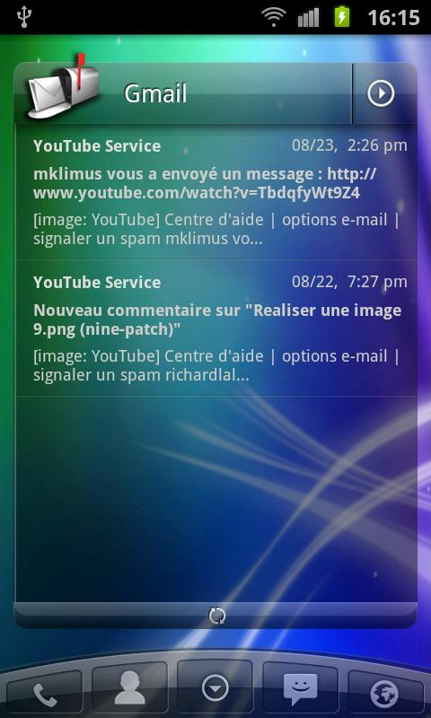 Launcher Pro Sense@tion - screenshot