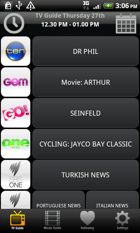 TV & Movie Guide Australia Pro - screenshot