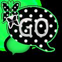 GO SMS THEME/GreenPolkaDot icon