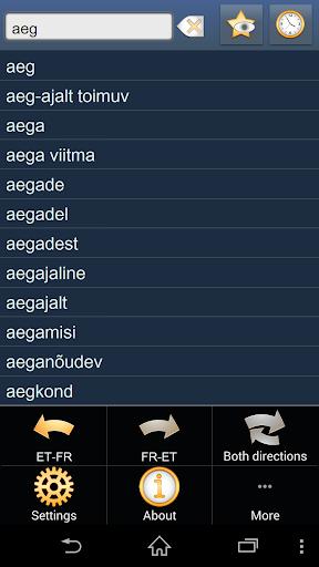 Estonian French dictionary +