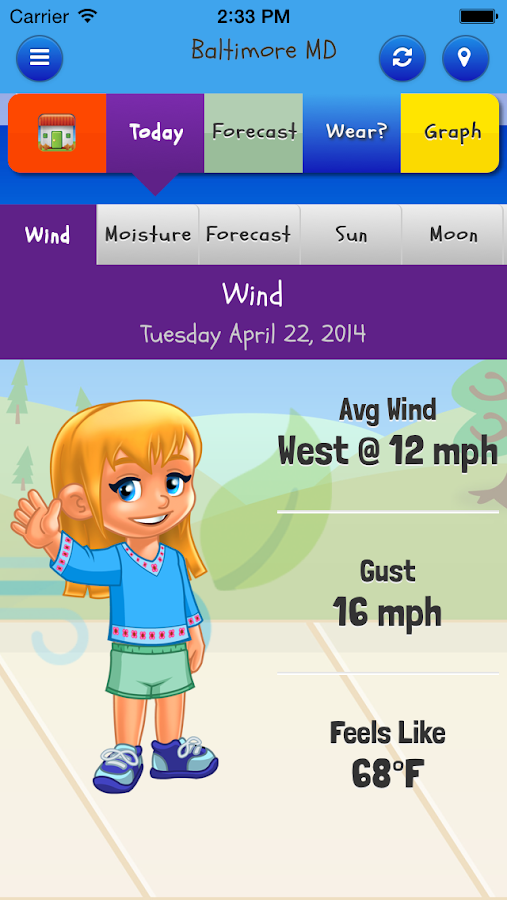 Kid Weather- screenshot