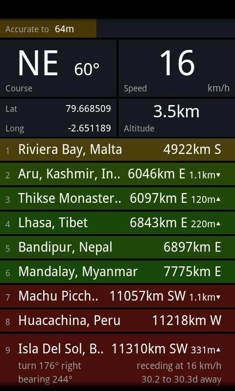 Distant GPS- screenshot
