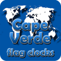 Cape Verde flag clocks icon