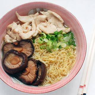 Wonton Noodle Soup With Chicken and Shiitakes