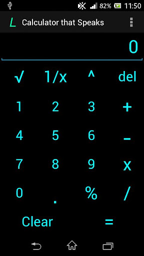 Android L Speaking Calculator