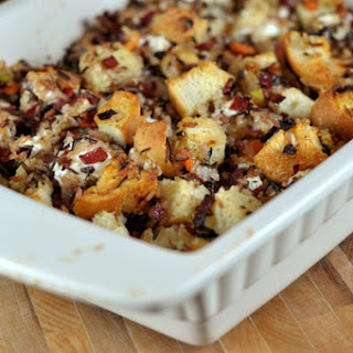 Wild Rice and Creamy Goat Cheese Stuffing.