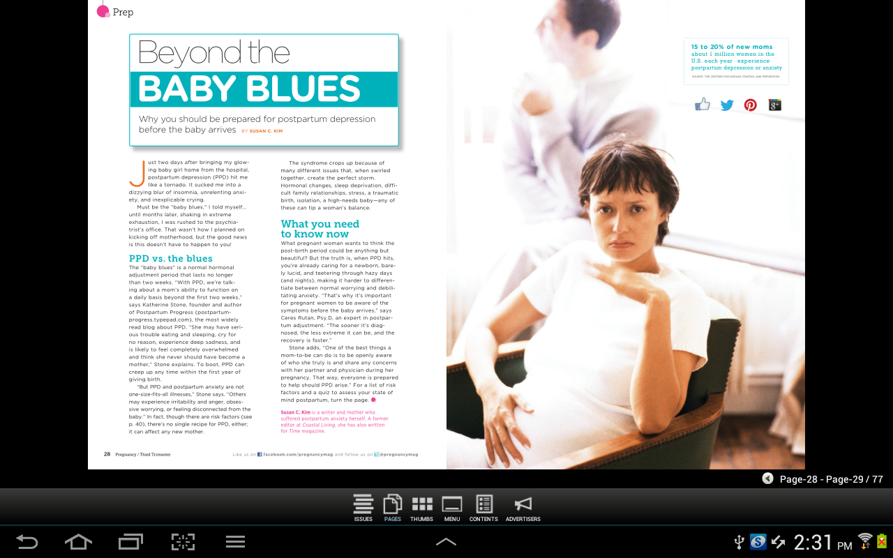Pregnancy Magazine - screenshot