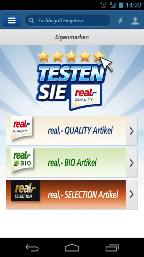 real,- leaflet, coupons - screenshot