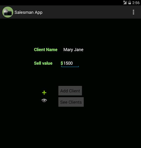 Salesman app