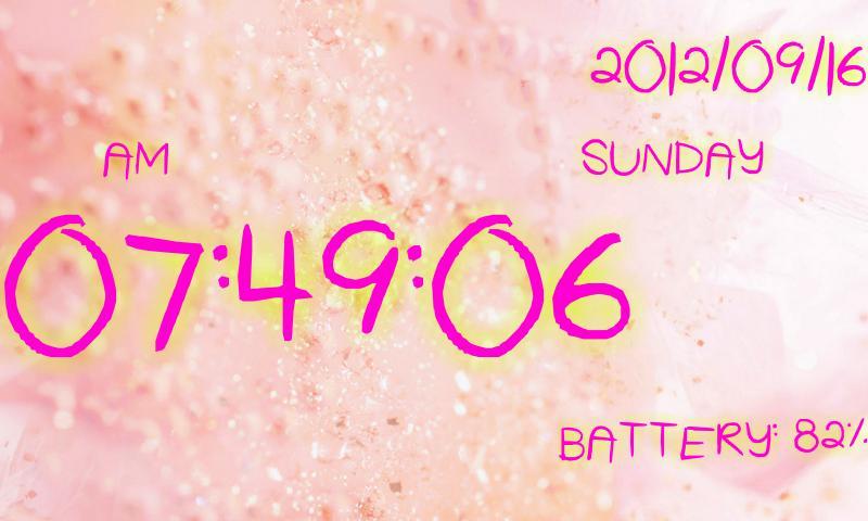 Cute clock battery- screenshot