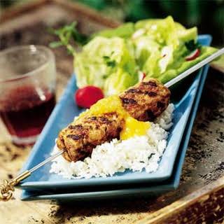 Turkey-Beef Kebabs.