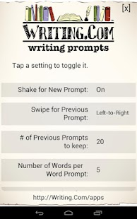 Writing Prompts - screenshot thumbnail