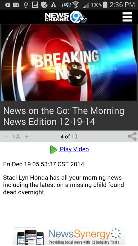 NewsChannel 9 WSYR Syracuse - screenshot