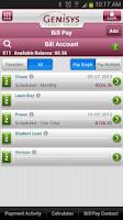 Screenshot of Genisys Mobile Banking
